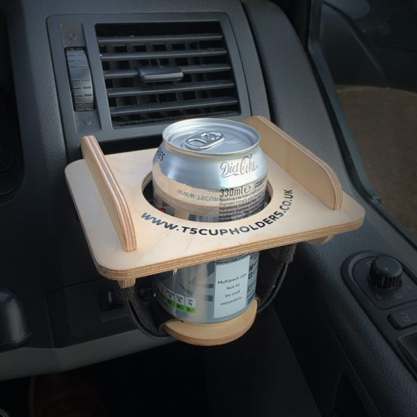 VW T5 Cupholder with can support